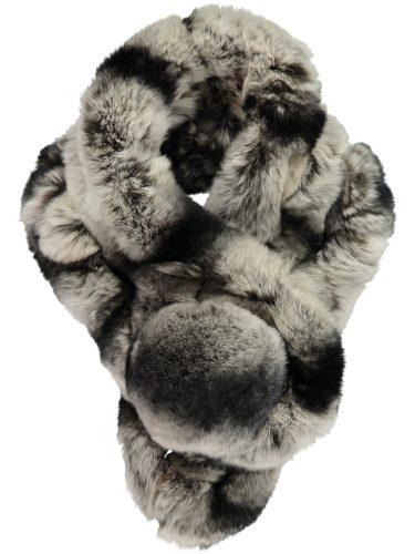 Grey Rabbit Fur Collar