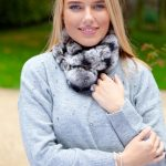 grey fur collar