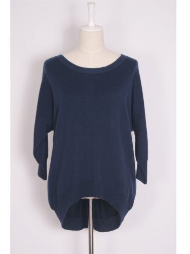 Fleur Sequined Cashmere Sweater - Navy