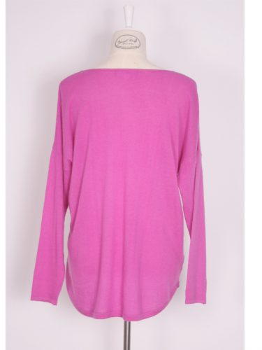 Ava Cashmere Sweater – Candy Pink