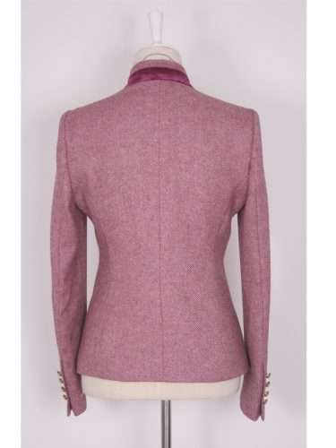Pink Tweed Women's Jacket Side Back