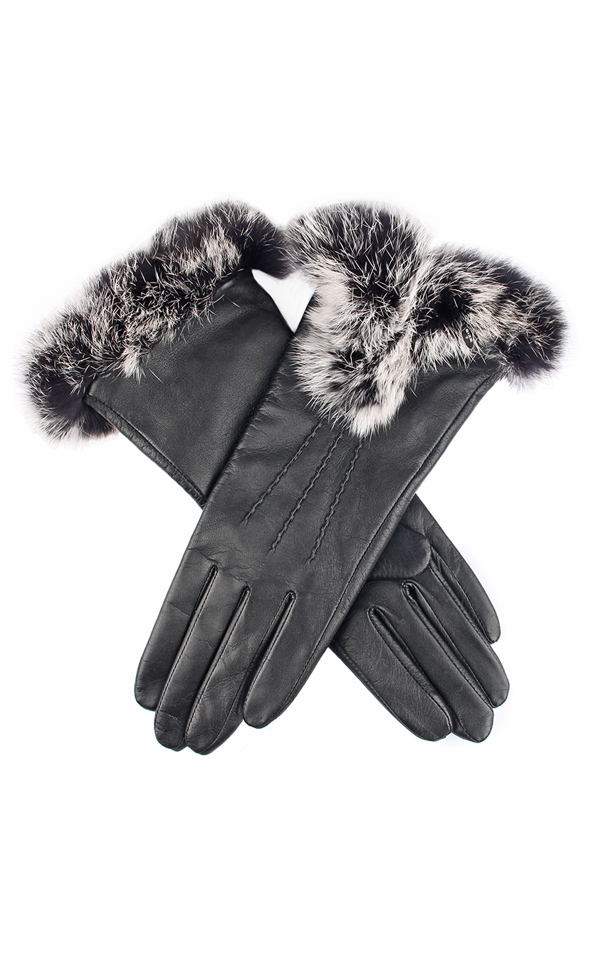 35bfcbc97f781 ... Women's Black Leather Gloves. 7-2393 Black