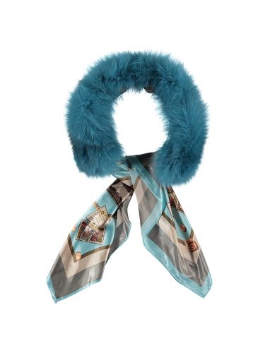 Turquoise Scarf Collar