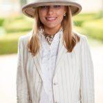 Cream & Taupe Hat