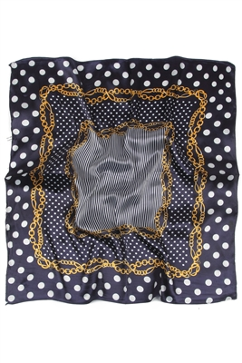 Blue & White Dots Scarf