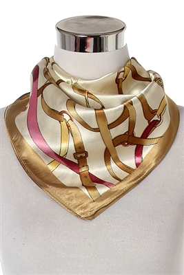 Gold belt & buckle scarf