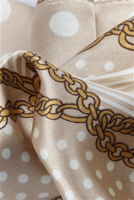 Gold silk scarf detail