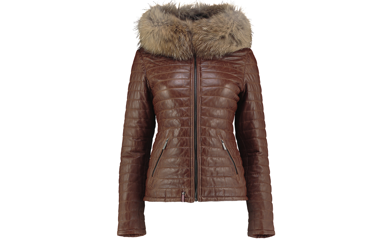Tan Leather Parka