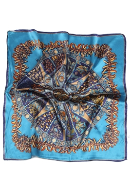 Turqouise silk scarf