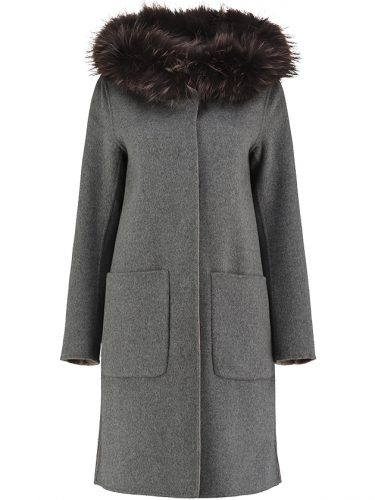 Wool Reversible Coat Grey