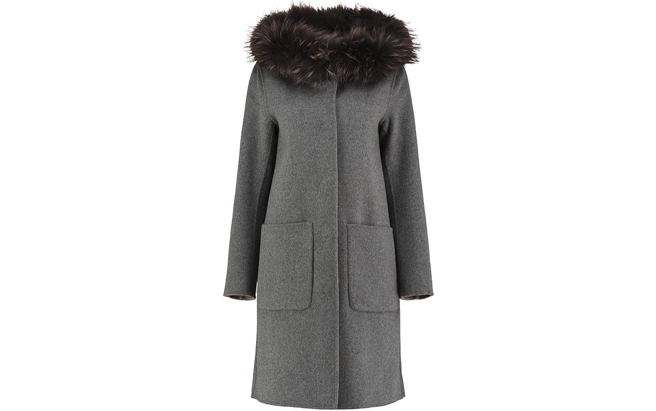 Wool Reversible Coat Grey