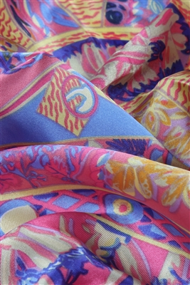 pink silk scarf detail