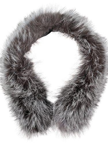 Silver Fox Fur Parka Collar 4