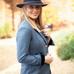 Tara Blue Riding Jacket Side Lifestyle