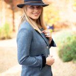 Tara Blue Riding Jacket Side Lifestyle