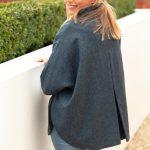 reversible cape tweed back