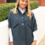 reversible cape tweed front