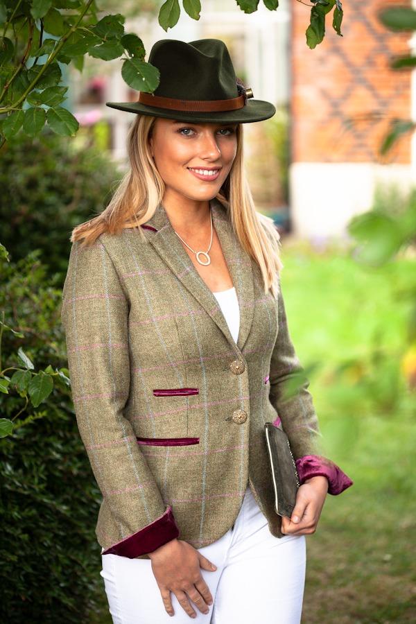 Amy Green Tweed Jacket.Lifestyle