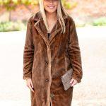 Brown Fur Coat.Lifestyle