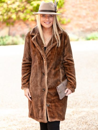 Brown Fur Coat.Lifestyle