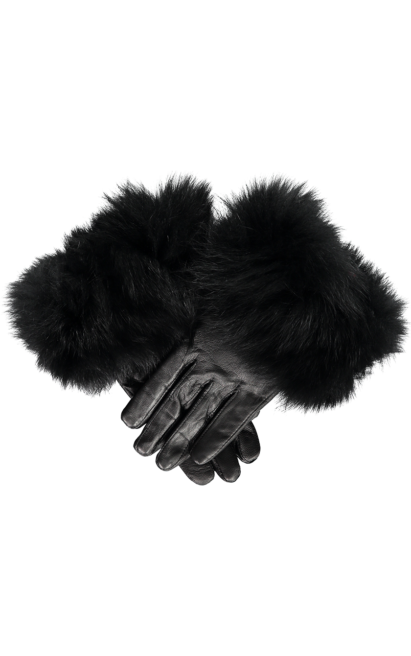 Black with Black Fur Gloves.sjpg
