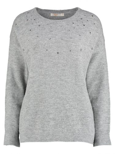 Grey Stud Sweater