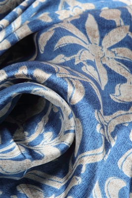 Blue Silk Scarf Detail
