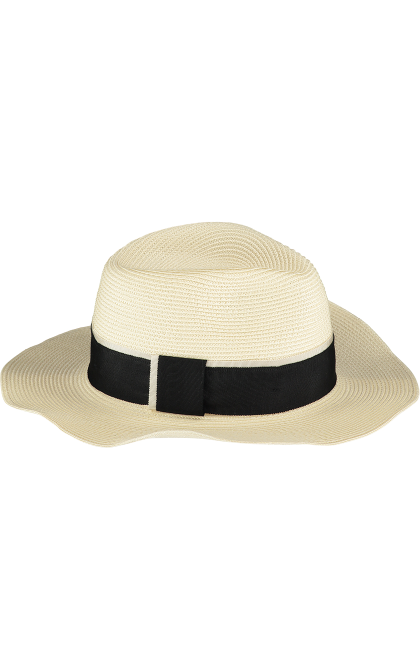 Cream Fedora Sun Hat1