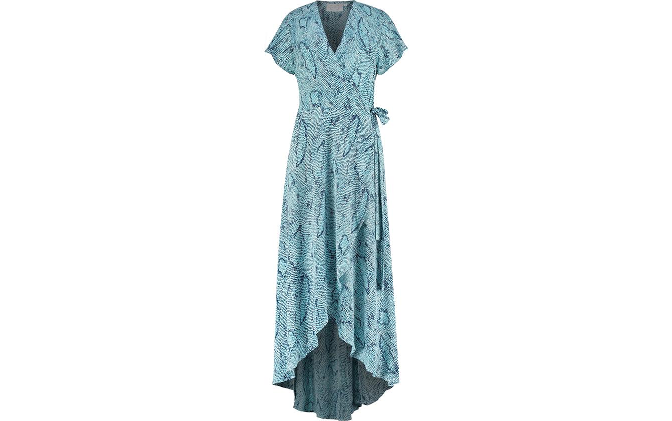Blue Snake Dress Front