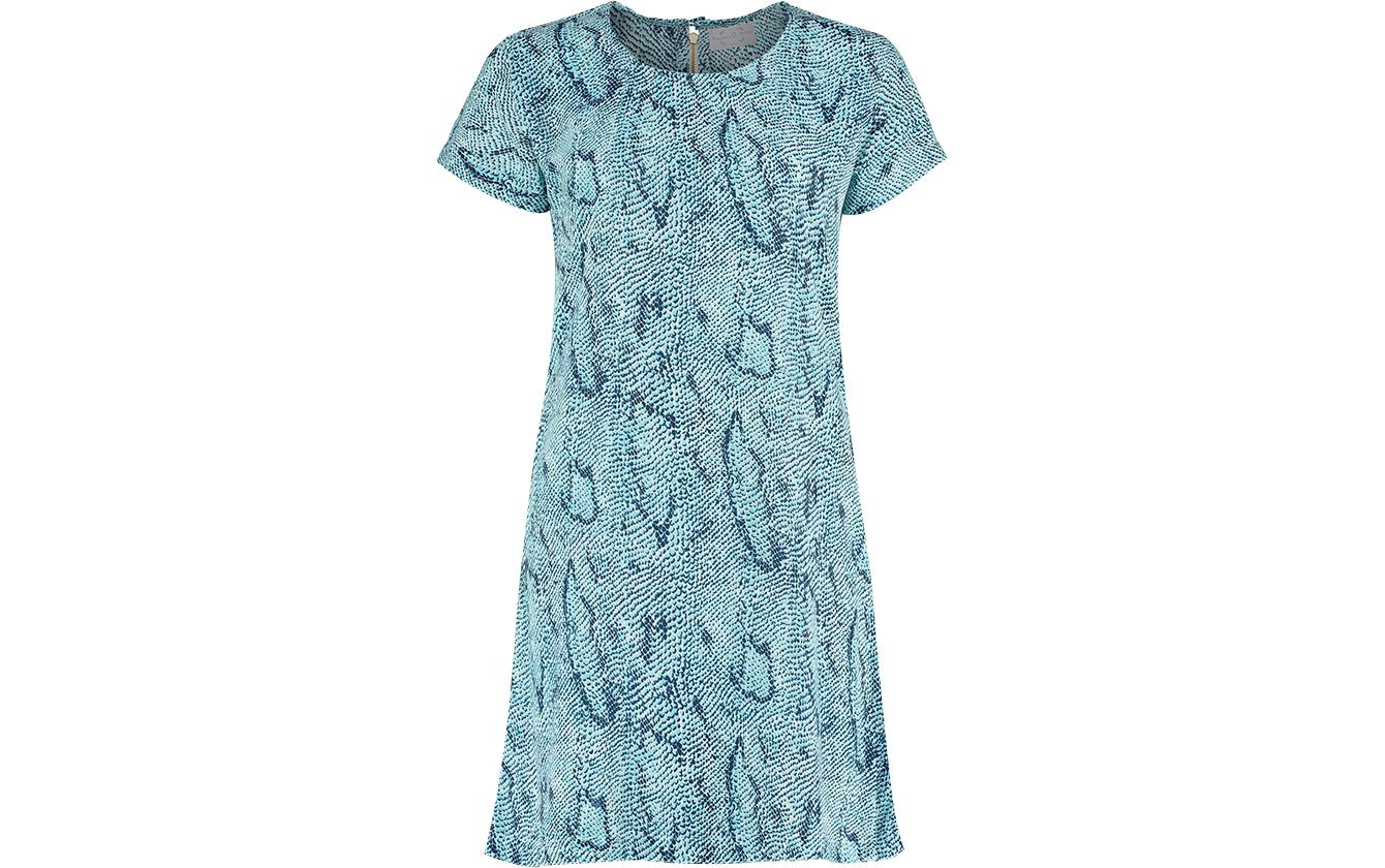 Blue Snake Dress St Front