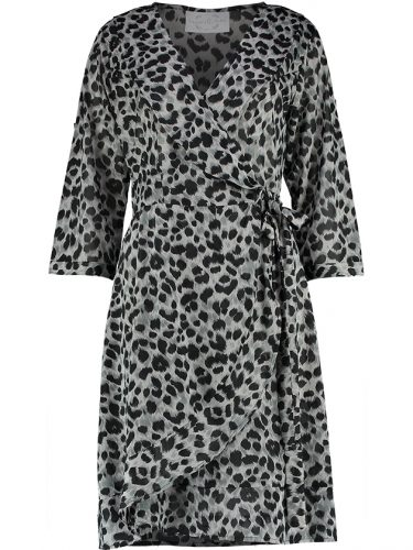 Evie Leopard Dress Front