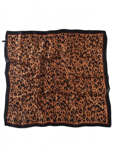Leopard Silk Scarf Details