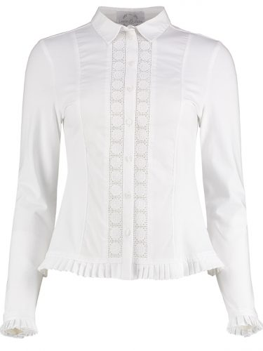 White Lace Shirt Front