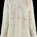 Cream faux fur back