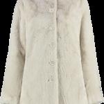 Cream faux fur front