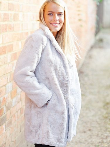Cream faux fur front lifestyle
