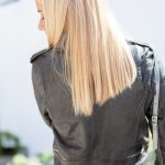 Khaki Leather Lifestyle close up back