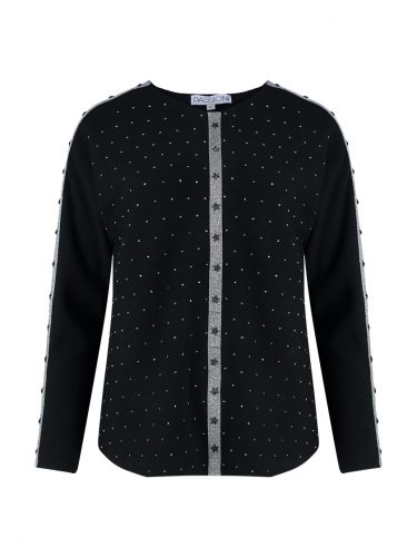 Black & Silver Star Sweater Front