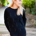 Black & Silver Sweater Front Lifestyle 3