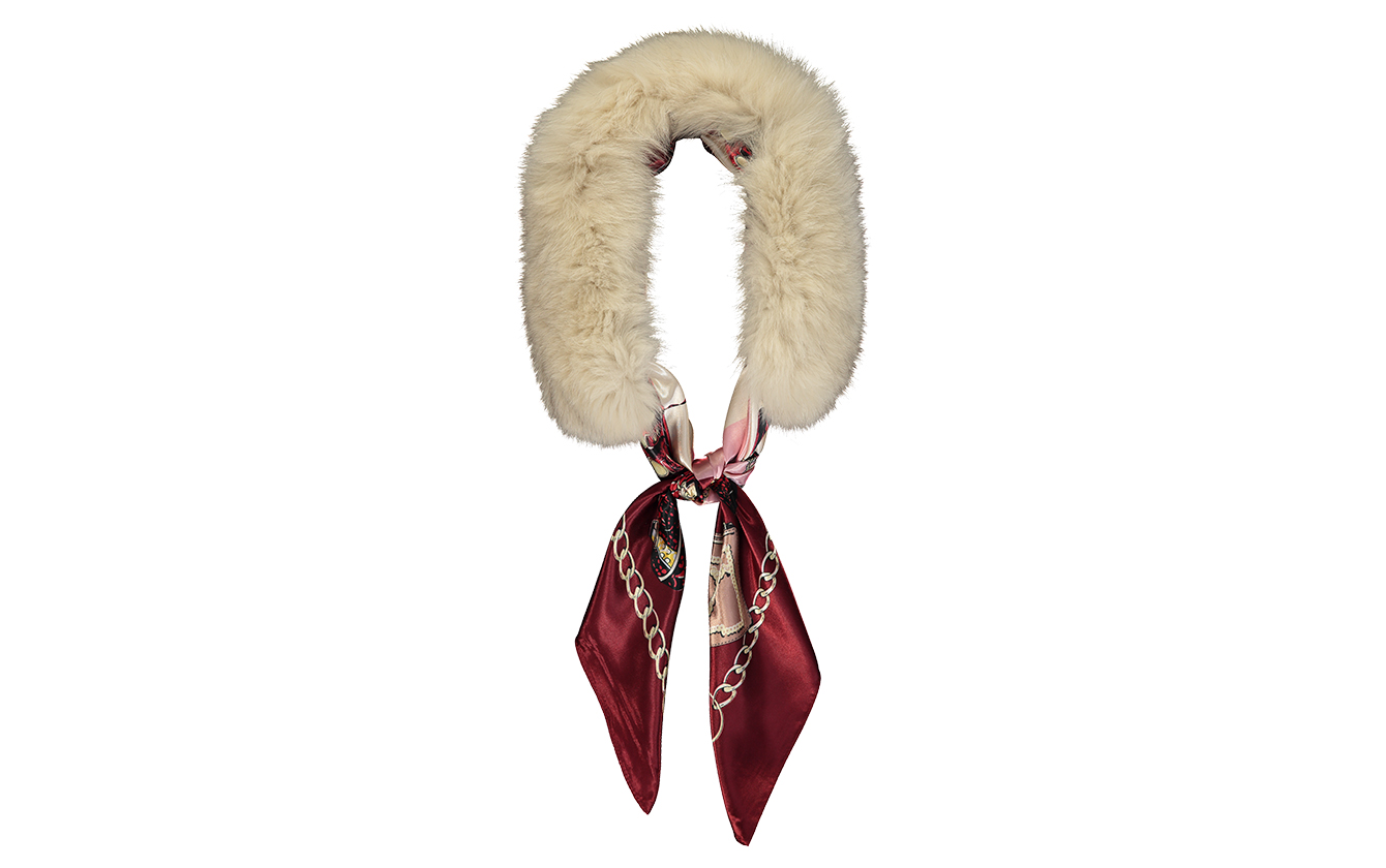 Cream Fur Scarf Collar1
