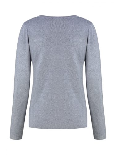 Grey Embellished Sweater Back