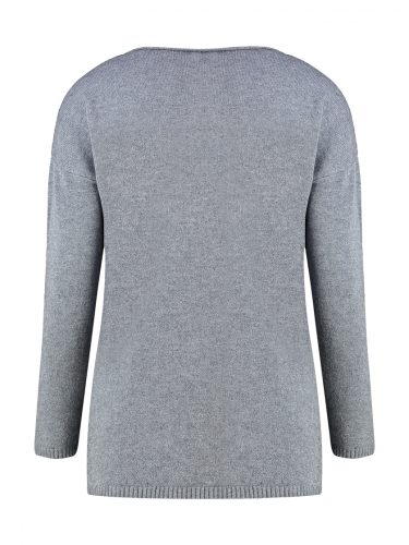 Grey & Silver Sweater Back