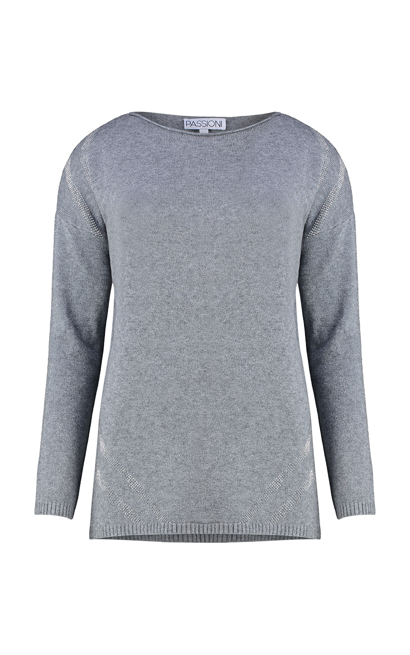 Grey & Silver Sweater Front