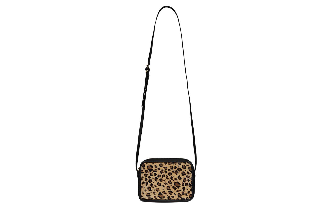 leopard handbag front