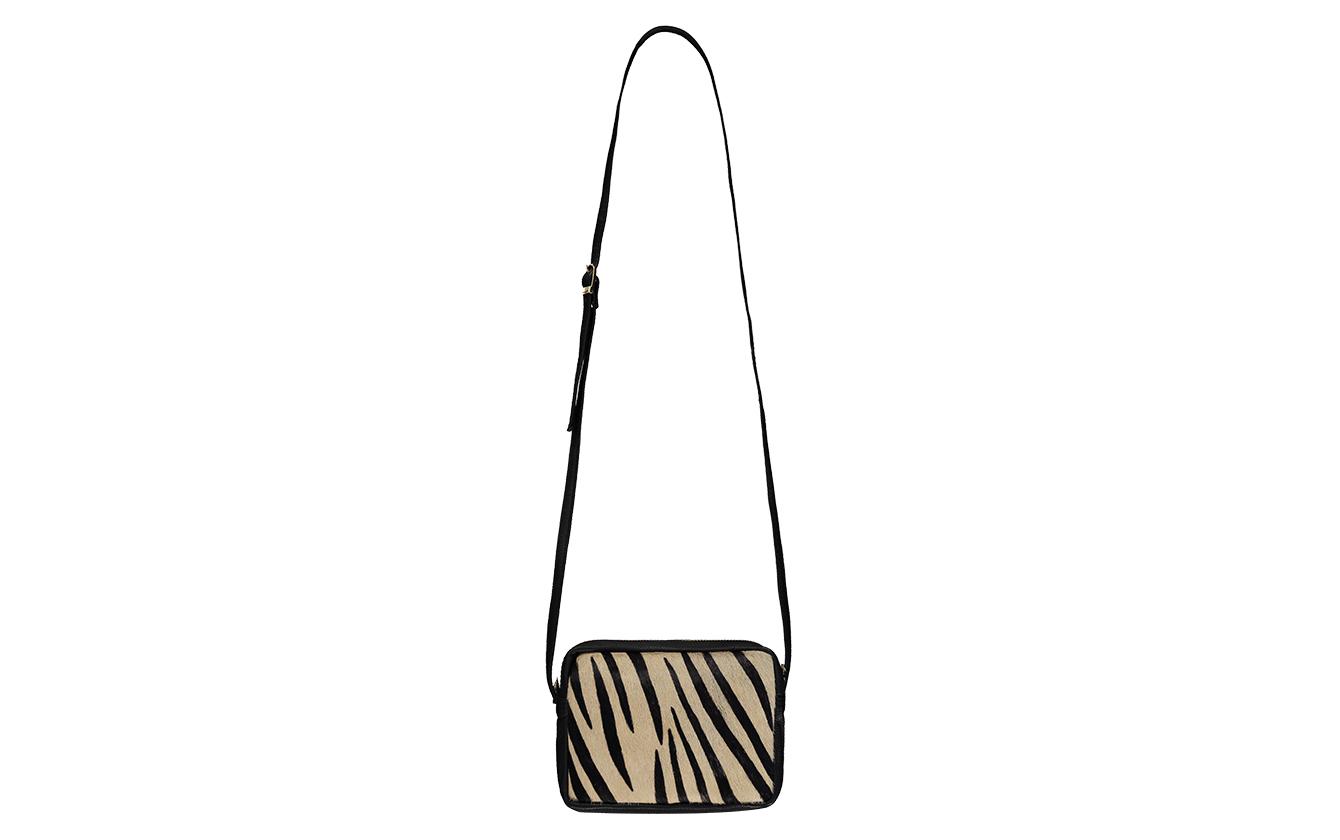 zebra handbag front