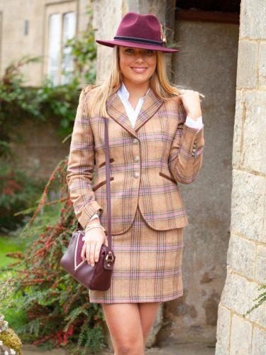Rosie Check Jacket.Lifestyle.& Skirt jpg