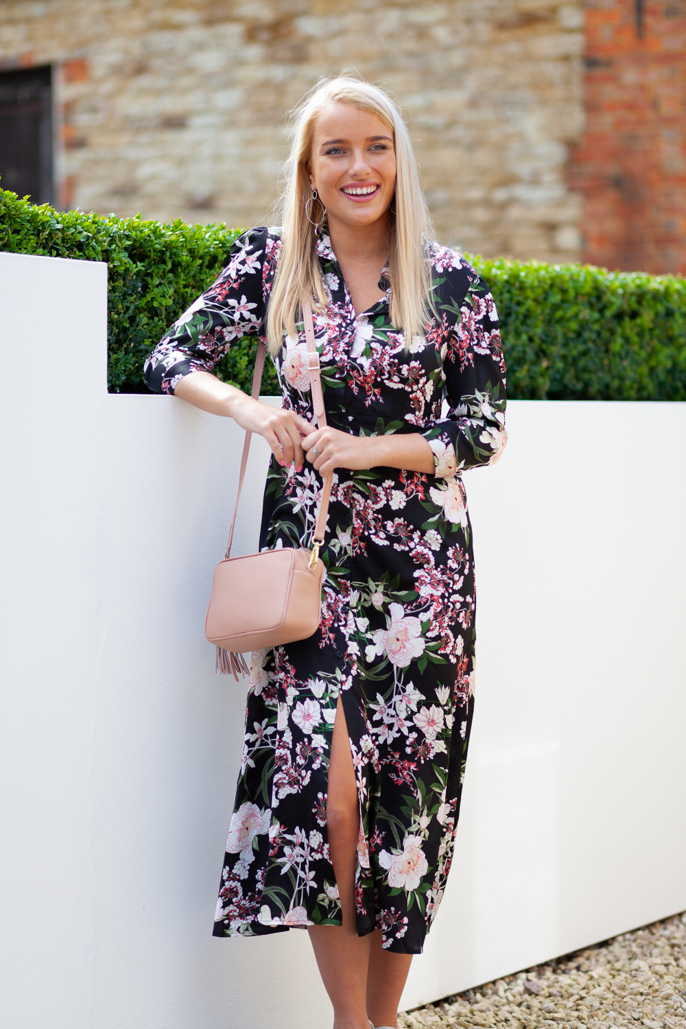 Black Floral Dress Lifestyle