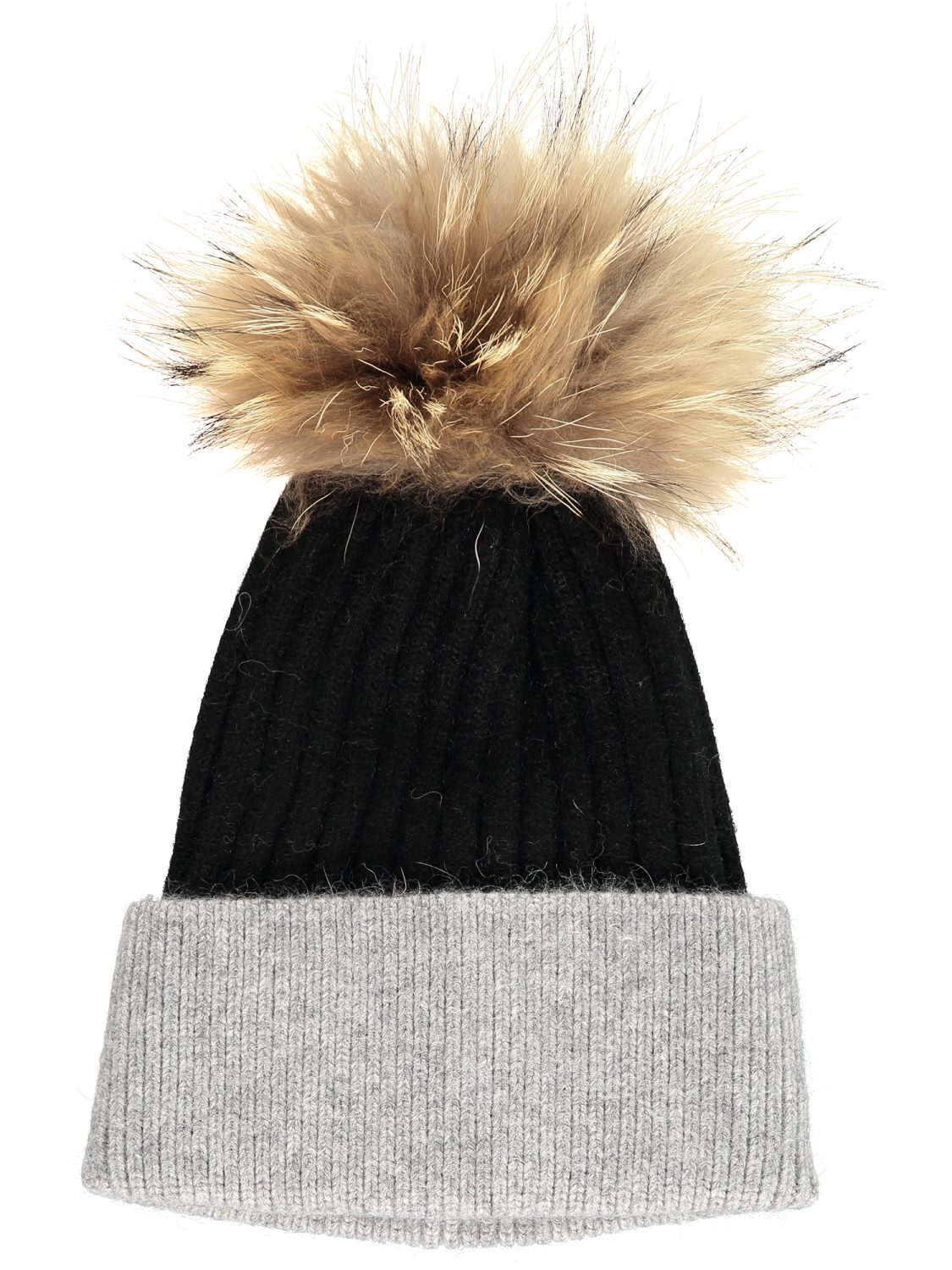 Black & Grey Bobble Hat