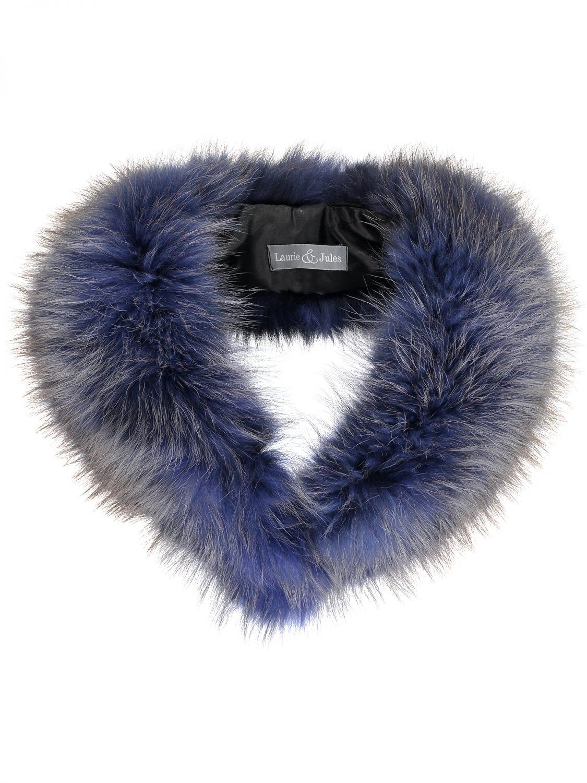 Blue Fur Collar Large 2