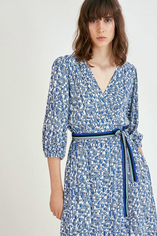 Blue Patterned Dress Lifestyle N1